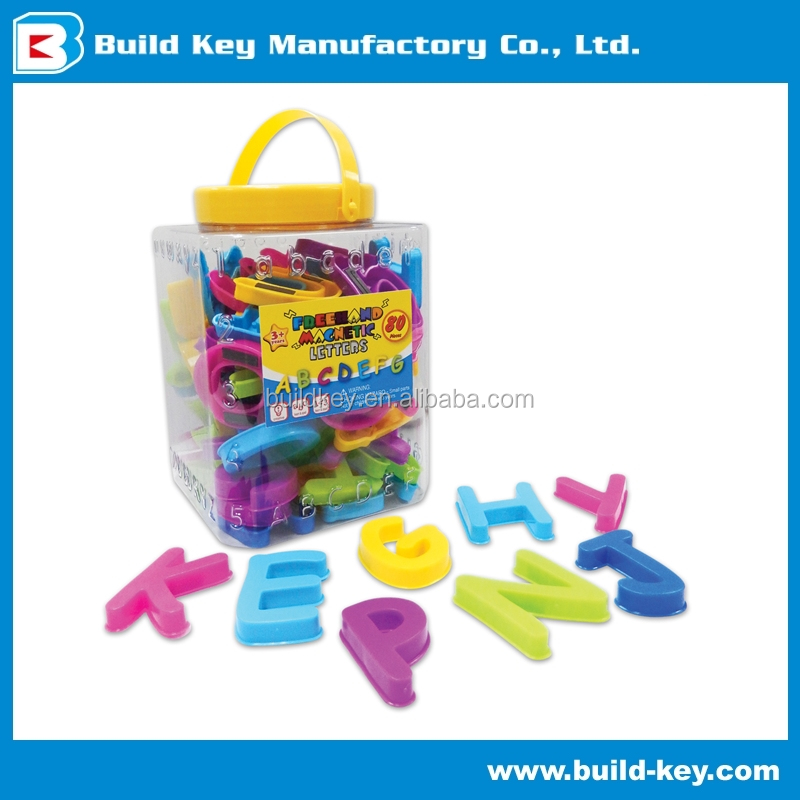 "Magnetic Letters Educational 2"" FREE HAND TOY PLASTIC ENGLISH"