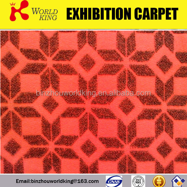 Newest crazy selling polyester velour jacquard carpet