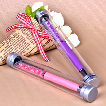 chins factory manuacture crystal pen with packaging boxes custom logo packed ball pen