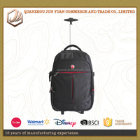 Fashion business hidden compartment laptop trolley bag with wheeled market trolley