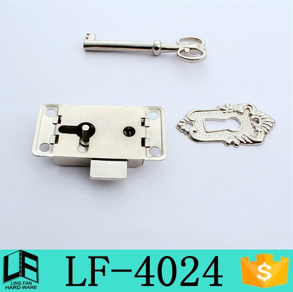 new products lock for small wooden boxes, catch lock steel jewellery box catch with lockeye LF-4045