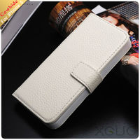 Hot sale cow leather pouch leather case for iphone5 with card holder and stand