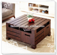 2015 NEW DESIGNS OF ANTIQUE FOLDING WOODEN COFFEE / TEA TABLES FOR LIVING ROOM FURNITURE