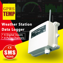 GPRS gsm wireless weather station data logger mobile sms alarm sensor