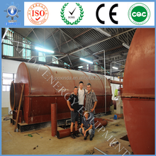 waste tyre plastic rubber pyrolysis to diesel production line