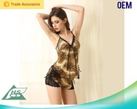 Modern design comfortable feel mature women sexy nightgown for women