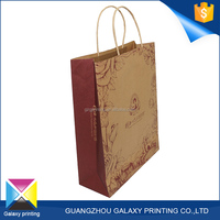 OEM Custom shaped a4 size flat handle kraft tea paper bag