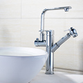 FLG supply brass modern design wash sanitary ware upc basin faucet with dual handle