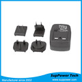 RoHS TUV CB CE Approved Universal International Travel Interchangeable Plug Power Adapter 12V 1.25A