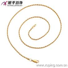 42197 cheap fashion jewelry made in china 18k simple copper alloy jewelry necklace