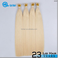 Hot Selling Wholesale Top Quality Remy Hair 1g Keratin Glue No Tangle No Dry double drawn chinese keratin hair extensions