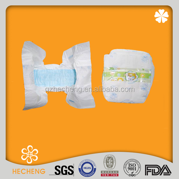 OEM factory brand baby diapers with printed backsheet