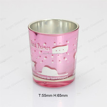 Simple fashion smalll glass votive candle holders with customized logo