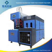 Small plastic water bottle semi automatic stretch blow molding machines