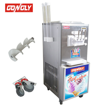2017 Big Capacity 3 Nozzles Ice Cream Cooling System Commercial Soft Serve Frozen Yogurt Machine with factory price