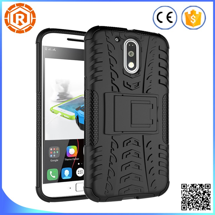 Military Grade hybrid case for moto g4 plus with detachable kickstand case