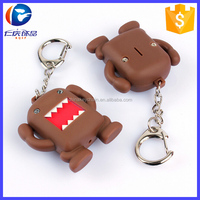 Funny Decoration Domo Kun LED Flashlight Keychain