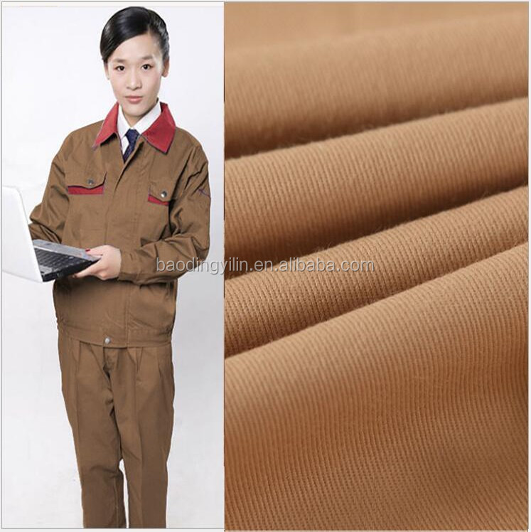100% Polyester Reactive Dyed Workwear Fabric 100% Polyester 21x21 108x58