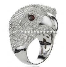 new designs silver plated Bald Eagle animal Rings jewellery