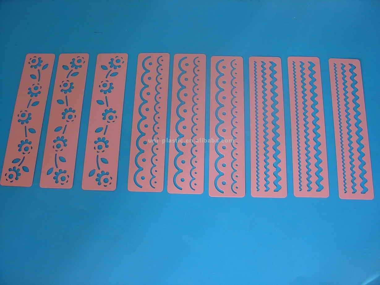Top quality PP material plastic stencils for sale