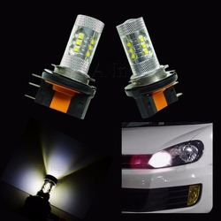 H15 Halogen 16 LED 80W For Car Auto DRL Head lamp Fog Lamp High Beam Xenon White LED XB-D Daytime Running Light For Audi BMW