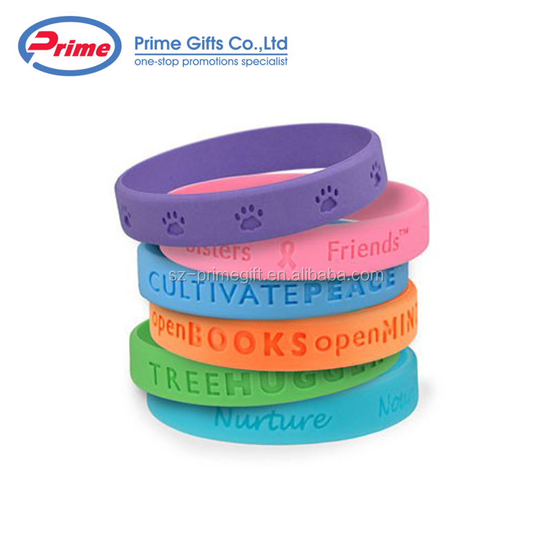 Wholesale Custom Logo Printed Silicone Wristband No Minimum