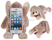 lovely plush stuffed Dog Protective Case for iPhone 5 & iphone 6 & iphone 6s