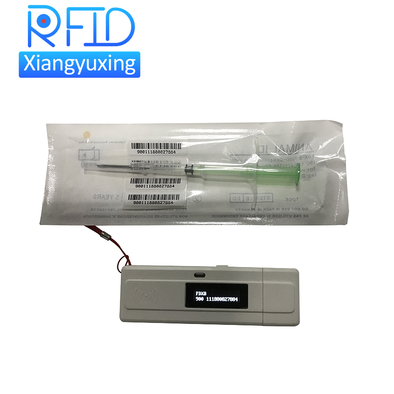 ISO11784/85 protocol pocket animal rfid tag scanner smaller rfid reader for animal microchip