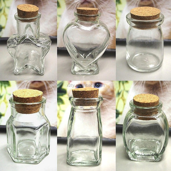Mini Glass Favor Jars Bottle with Cork Keepsake Souvenir