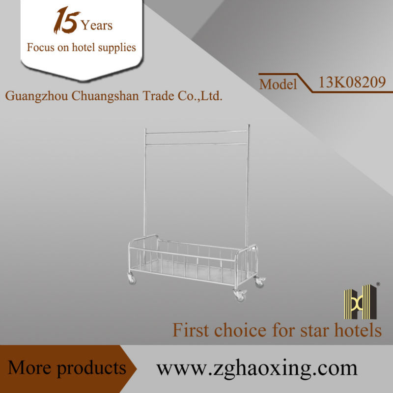 Stainless steel clothes rack Trolley