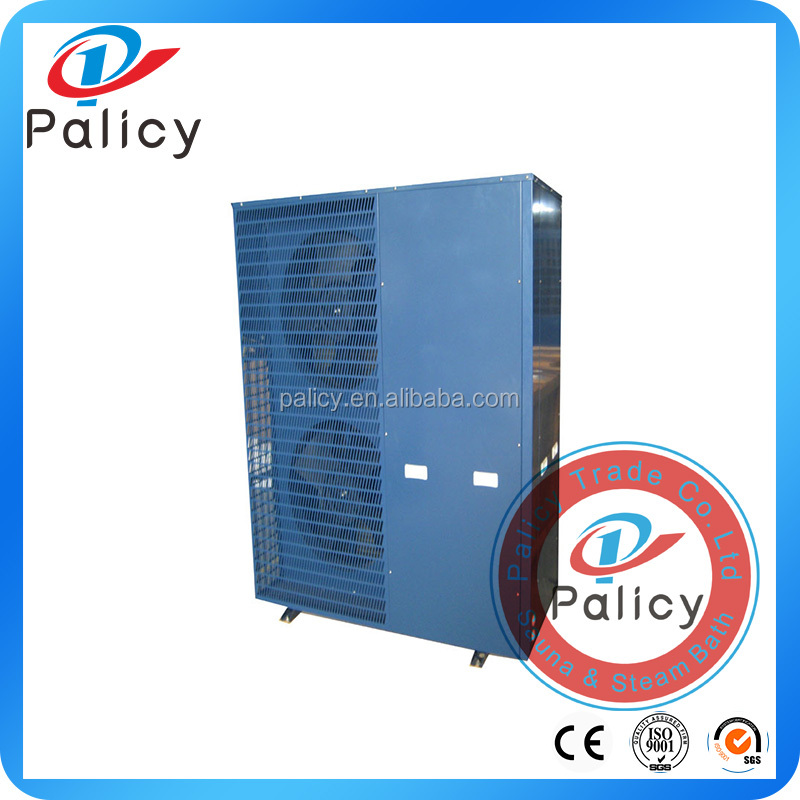 Gas absorption heat pump for house heating and cooling
