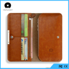 dongguan factory 5.5inch cards and mobile phone money holder multiple smart wallet made with quality PU leather