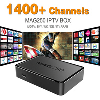 IPTV Box MAG 250 with IUDTV IPTV Subscription Europe Arabic 1 Year