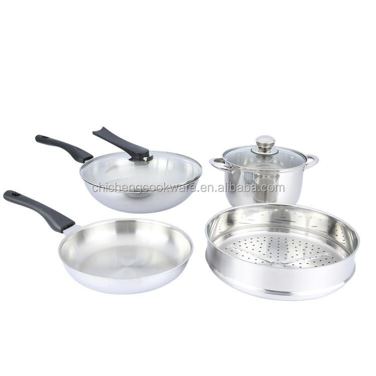 5-ply stainless steel kitchen queen cookware set