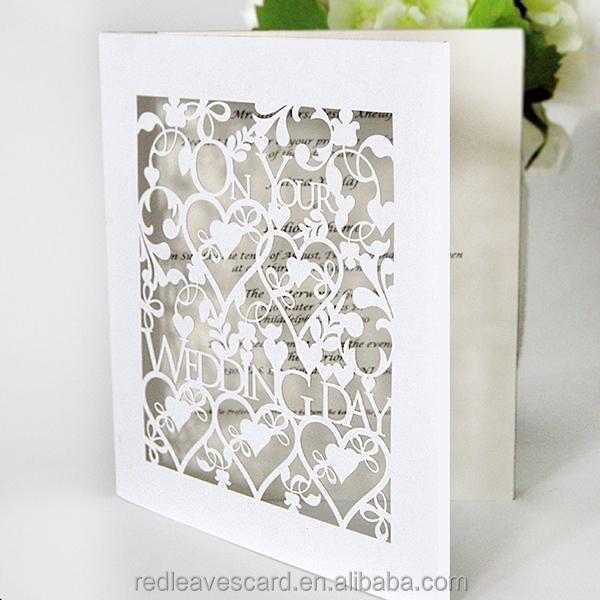 Paper craft white holy wedding invitation cards hot sale for Wedding invitation paper for sale