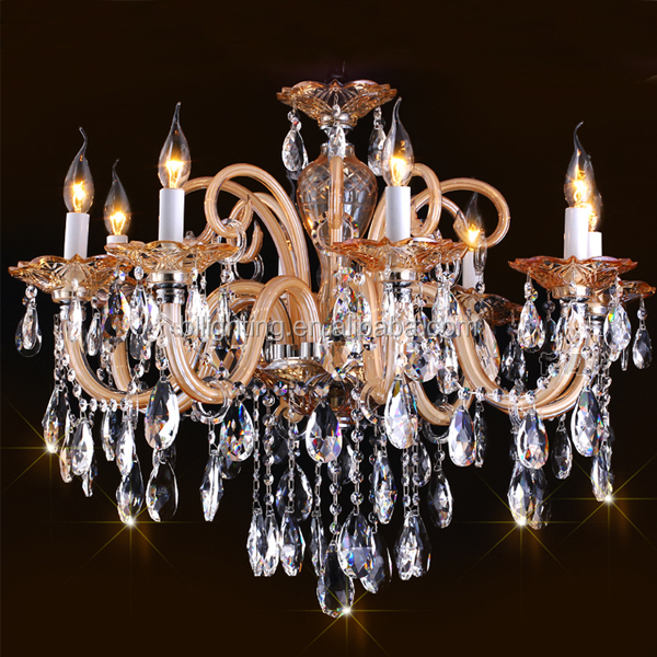 Amber color modern purple crystal chandelier