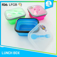 Latest design cheap new silicone FAD & LFGB waterproof lunch boxes