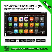 2016 univeral 2 din android car dvd with gps/ dvd/aux/ rds