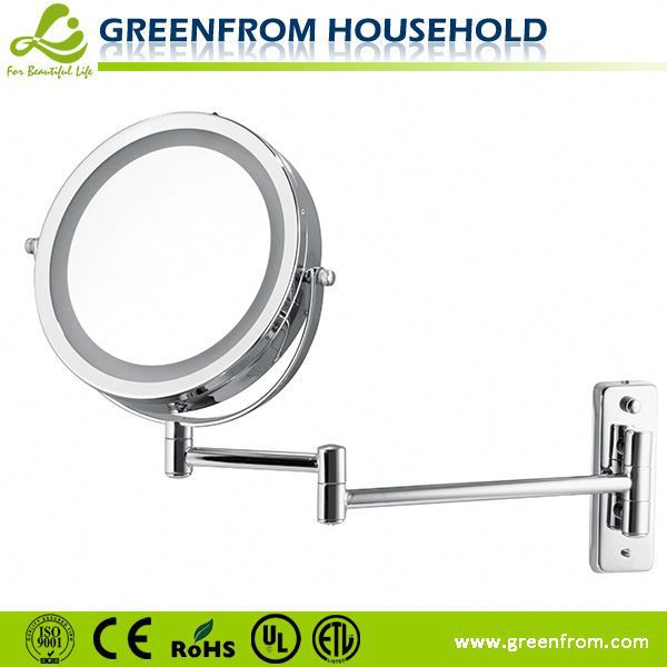 Led Lighten mirror for wall mount ironing board with mirror