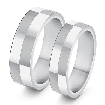 Comfort Fit Couple Rings 316L Stainless Steel for Him and Her Matching Wedding Rings Band