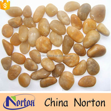 Yellow polished river indonesia pebble stone NTCS-P346A