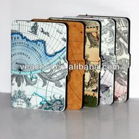 Map Ultra Slim Smart PU Leather Case Cover for Amazon Kindle Paperwhite 5 Case