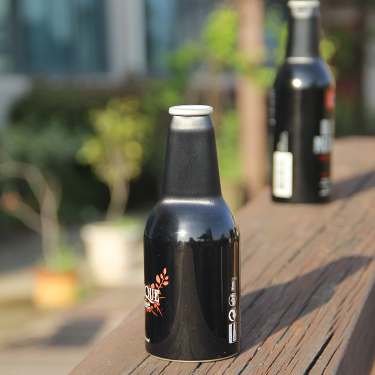 Wholesale Cheap price Custom Mini Empty 330ml 500ml Black beer bottle
