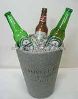 Custom made personalized polystone beer barrel bucket