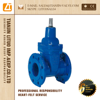 "Flanged Resilient Seated 2"" Inch Gate Valve , DN 40-600mm/40-400mm, PN 1.0/1.6/2.5/4.0MPa"