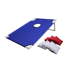 Portable Assmble PVC Framed Cornhole Toss Game Set with 8 Bean Bags and Carrying Case for Family Activity Playing Game