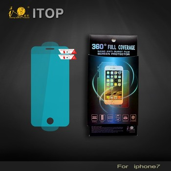 Itop nano 0.15mm screen protector 3d curved edge tpu film for s6 edge