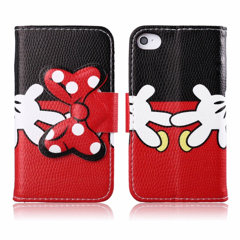 For Apple iPhone 4 4S4G Case,Case for iPhone 4 4S4G PU Leather Wallet Case Cute Bow-knot Flip Cover for Apple iPhone 4 4S 4GCase