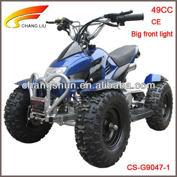 Hot-sale CE proved 49CC electric starter 6 inch tyres big front light Gasoline ATV for Kids, CS-G9047-1