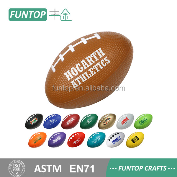 Promotion rugby anti stress pu foam ball